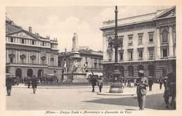 Italia Lombardia Milan Milano - Piazza Scala E Monumento A Leonardo Da Vinci    - Cartolina  Barry 2734 - Milano (Milan)