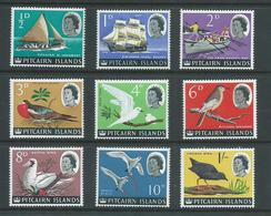 Pitcairn Islands 1964 QEII Ship & Bird Definitive Short Set Of 9 To 1 Shilling MNH - Pitcairn Islands