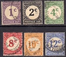 Straits Settlements 1924 Postage Dues Set - Fine Used - Straits Settlements