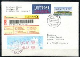 5501 - BUND - Brief Mit ATM 510 Als Übergabe-Einschreibennach Forbach, Poste Restante (Gebühr Als ATM) - Distributori