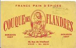 Buvard COUQUE DES FLANDRES -pain D'épices LILLE - Peperkoeken