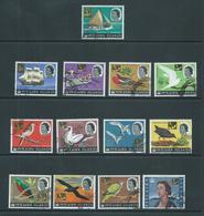 Pitcairn Islands 1967 Decimal Surcharges On 1964 QEII Bird & Ship Definitive Set 13 VFU - Pitcairn Islands