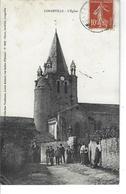 85 - LONGEVILLE - ( VENDEE ) - Belle Vue Animée Pas Très Fréquente De L'église - Frankreich
