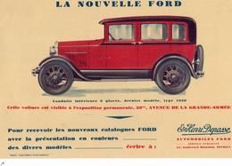VOITURE - LA NOUVELLE FORD - Expostion Permanente Avenue De La Grande Armée- Conuite Intérieur 6 Places - Publicidad