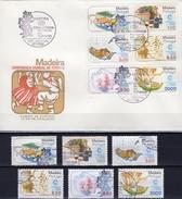 Ferien 1980 Madeira 64/9+FDC 9€ Schlitten Trauben Wein Spitze Orchidee Boot Konferenz Manila Ship Cover Bf Portugal - Other