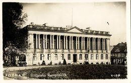 POSEN POZNAN, Biblioteka Raczyńskich Library (1940s) Polen RPPC Postcard - Posen