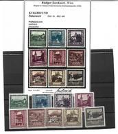 1548d: Österreich 1923, Landeshauptstädte **, Attest Soecknick (ANK 175.- €) - 1918-1945 1. Republik