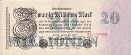 GERMANY 20 Million 50000000 Mark 1923 P-97 EF+ HIGH CRISP */* - [ 3] 1918-1933 : República De Weimar