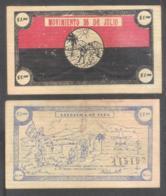 6772  Bono Del 26 De Julio - $1 - Slightly Folded By The Center - Cb - 9,85 - Cuba