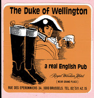 Sticker - The Duke Of Wellington - A Real English Pub - RUE DES EPERONNIERS BRUSSELS - Autocollants