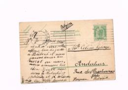 Entier Postal à 5 Heller.Expédié De Prague à Anderlues (Belgique) - Tschechische Republik