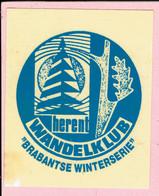 Sticker - WANDELKLUB HERENT - Brabantse Winterserie - Autocollants