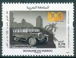 MOROCCO 100 ANS D'HISTOIRE DU TRANSPORT ROUTIER AU MAROC AUTOCARS VOITURES 2019 - Morocco (1956-...)
