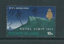 Pitcairn Islands 1971 Royal Visit Overprint Single VFU - Pitcairn Islands