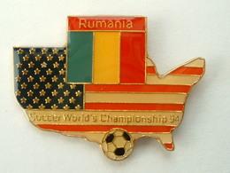 Pin's FOOTBALL - WORLD CUP USA 94 - DRAPEAU ROUMANIE - Football