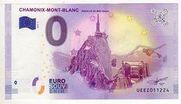2018-2 BILLET TOURISTIQUE 0 EURO SOUVENIR N°UEEZ011913 CHAMONIX MONT BLANC Aiguille Du Midi - EURO