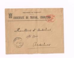 Lettre De Charleroi à Anderlues (pliée) - Marcophilie