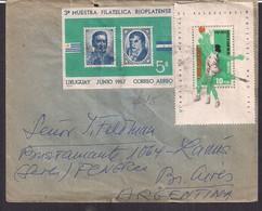 Uruguay - 1967 - Lettre - Championnat Du Monde De Basketball V - Basketball