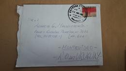 Une Enveloppe De La Bolivie A Circulé En Uruguay Avec Une Lutte Contre Le Sida - Bolivia