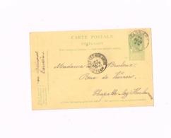 Entier Postal à 5 Centimes.Expédié De Carnières à Chapelle-lez-Herlaimont. - Interi Postali