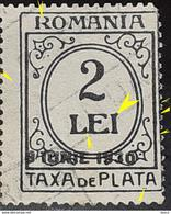 """Errors Romania 1928 Taxa Dd Plata With SURCHARGE 8 June 1930, Broken Letter R, Letter """"LE"""" GLUE Extended 'i"""" - Variedades Y Curiosidades"""