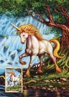 """ENTIER POSTAL De 2011 D'AUSTRALIE Sur CP """"Créature Mythologique : UNE LICORNE"""" - Oblit. PJ 4 Octobre 2011 - Postal Stationery"""