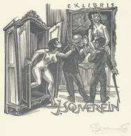 Ex Libris J. Souverein - Gerard Gaudaen Gesigneerd - Ex-Libris