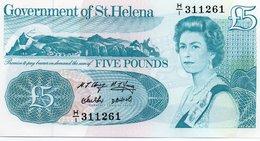 ST.HELENA=N/D    5  POUNDS     P-11     UNC - Isla Santa Helena