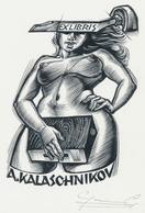 Ex Libris A. Kalaschnikov - Gerard Gaudaen Gesigneerd - Ex-Libris