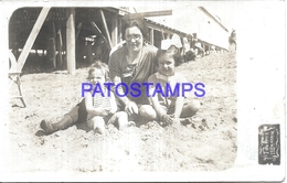 126083 ARGENTINA BUENOS AIRES MIRAMAR VISTA DE LA PLAYA COSTUMES WOMAN & GIRL'S YEAR 1922 POSTAL POSTCARD - Argentina
