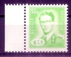BELGIE  Boudewijn Bril * S 61A  (1) * Postfris Xx * DIENSTZEGEL * LICHT GROEN - Service