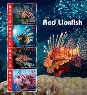 Nevis  2019  Fauna  Red Lionfish  I201903 - St.Kitts Und Nevis ( 1983-...)