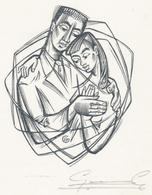 Verlovingskaart 1964 Gaby Rasschaert En Eienne Pervost - Gerard Gaudaen Gesigneerd - Verlobung