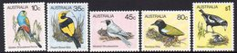 AUSTRALIA, 1980 BIRDS 5 MNH - Ongebruikt