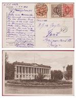 Postcard Polen Poland Polska Warsaw Varsovie Warschau Warszawa Bibljoteka Raczynskich 1,2, 15 Grosz Grosze Groszy Stamps - Lettres & Documents