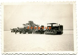 Photo Salt Collecting Machine Tractor Salinas Grandes Jujuy Argentina 1939 - Luoghi