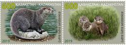 Kazakhstan 2019. River Otter. A Pair Of Stamps.NEW!!! - Kazakhstan