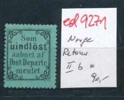 Norge  Nr. Retour Marke  IIb *     (ed9271  ) Siehe Scan - Norvegia