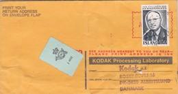 BUSTA VIAGGIATA - ISLAND -reykjavik PUBBLICITARIA KODAK PROCESSING LABORATORY -VIAGGIATA PER ALBERTSLUND (DANMARK) - 1944-... Repubblica