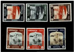 Cirenaica ,colonie Italiane ,Posta Aerea ,serie Completa Usata ,qualita Splendida - Cirenaica