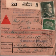 ! 1942 Nachnahme Paketkarte Deutsches Reich, Hamburg Harburg Nach Wolfen, Gemeinschaftslager - Allemagne