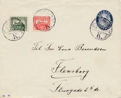 Dänemark: 1921: Ganzsachen Umschlag Nach Flensburg - Dänemark