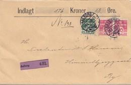Dänemark: 1913: Wertbrief Aalborg Nach Ry - Dänemark