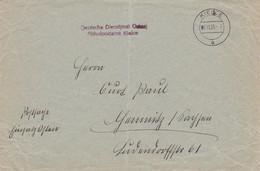 GG: Früher Postsache Brief 1.11.1939 Von Kielce Nach Chemnitz, Einsatz Osten - Besetzungen 1938-45