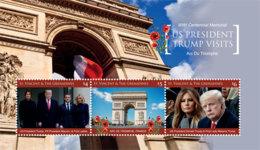 St. Vicnent  2019  U.S PRESIDENT TRUMP VISITS FRANCE ,Emmanuel Macron  I201903 - St.Vincent & Grenadines