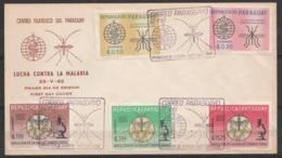 """Paraguay - N°674/78 Lutte Contre Le Paludisme """"Lucha Contra La Malaria"""" FDC Oblit 23-V-1962 - Paraguay"""