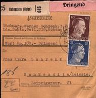 ! 1943 Paketkarte Deutsches Reich, Hohenstein In Ostpreußen - Deutschland