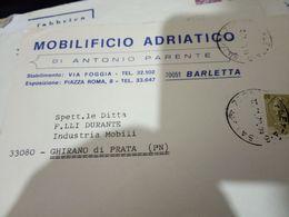 BARLETTA BUSTA DITTA MOBILI MOBILIFICIO  ADRIATICO  A PARENTE VB1970 HH2450 - Barletta