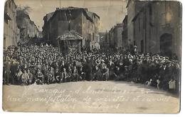 09 CARTE PHOTO GREVES OUVRIERS TEXTILE LAROQUE D'OLMES 1926 CPA  2 SCANS - France