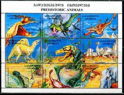 BF0122 Georgia 1995 Various Dinosaurs S/S MNH - Asia (Other)